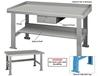 STEEL TOP INDUSTRIAL WORK BENCHES
